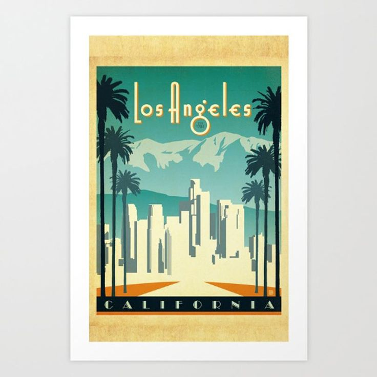 Los Angeles-inspired art prints from Society6 for those who have seen/love/are obsessed with the movie La La Land.