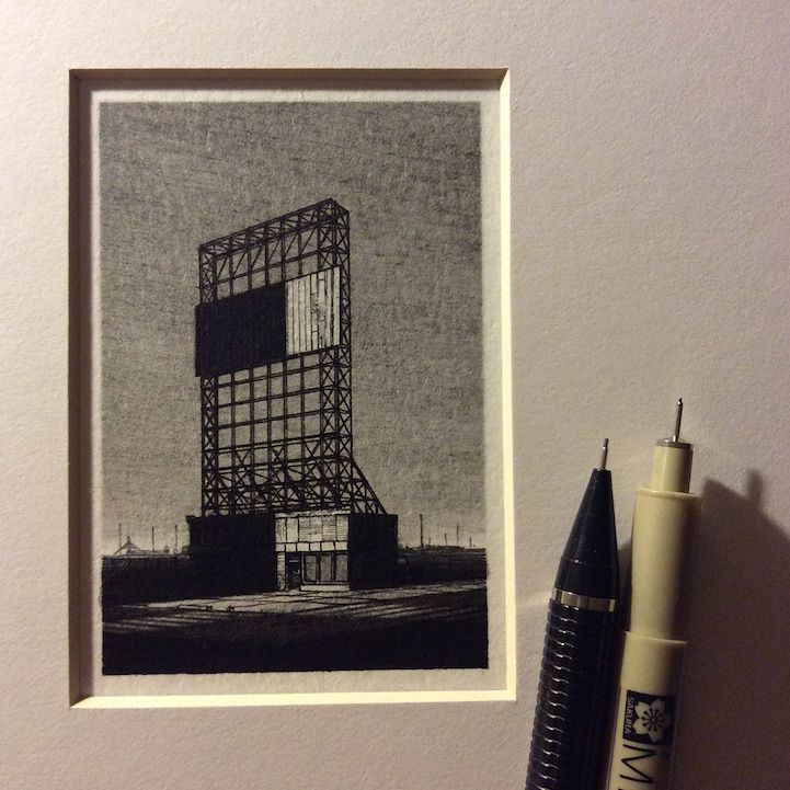 Intricately-Detailed Landscape Drawings are Smaller Than a Pencil - My Modern Met