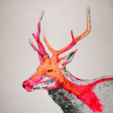 "Saatchi Online Artist Louise McNaught; Painting, ""Wilder"" art color blocking"