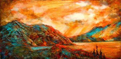 """Glenda Mosher """"When the Skies rained Gold"""""""