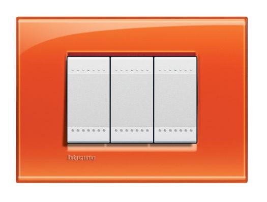Apagdor Bticino de la línea LivingLight: Placa Naranja