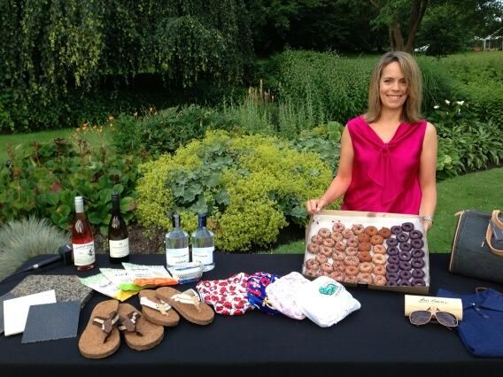 Our Executive Director Nancy Wright pimping out our exhibitors' products on Global BC!