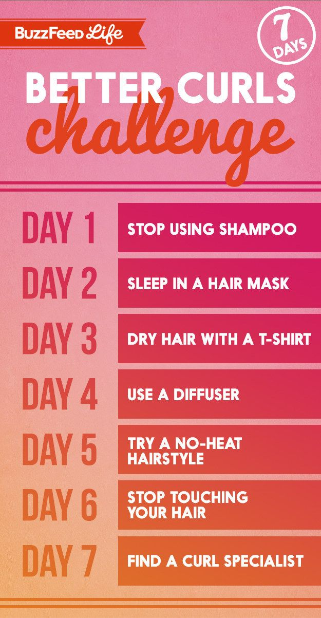 Here's your schedule: DO IIIT! | Here's How To Make Your Naturally Curly Hair Look Amazing In 7 Days