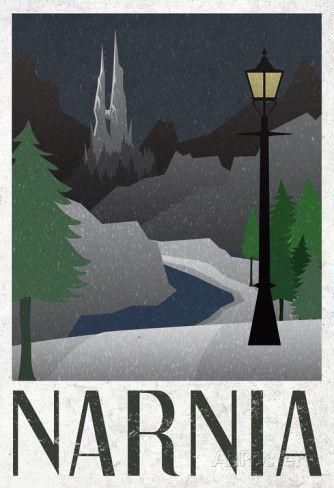 Narnia Retro Travel Poster poster