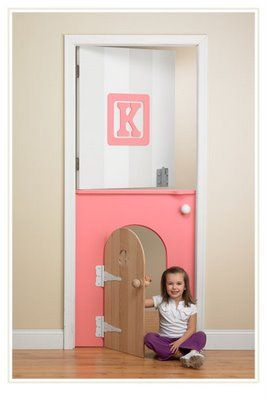 Child's room door - doors are so inexpensive to replace...this would be fun to do!!  Amanda - tell Andy to get to work!