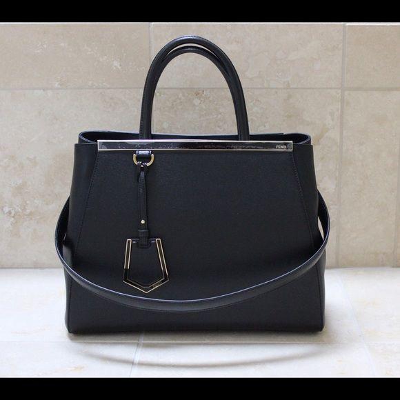 PRICE DROP Authentic NEW Fendi 2jours Medium Black Authentic New Fendi 2jours Medium Black. Beautiful leather, 2 handles and a long shoulder strap. No trades please. FENDI Bags