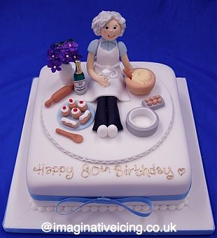 Imaginative Icing - Granny Baker Birthday Cake