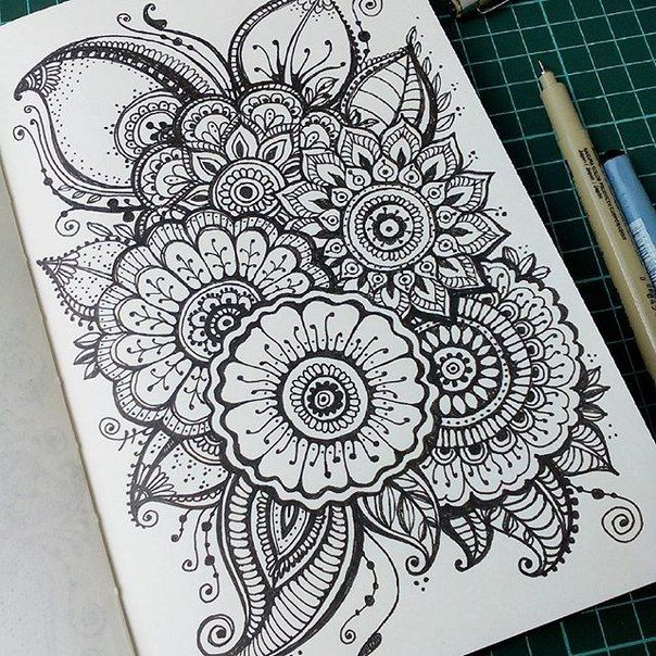 Mehndi Zentangle : Images about drawing henna a how to on