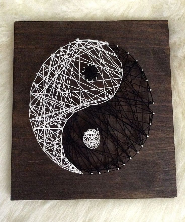 All Things Lovely: DIY- Yin Yang String Wall Art