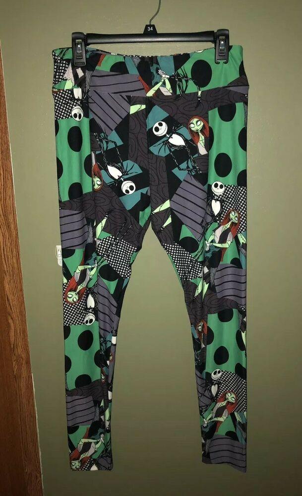d9213dcea7b4e0 Lularoe Womens PATCHWORK TC Leggings Nightmare Before Christmas Jack &  Sally | eBay
