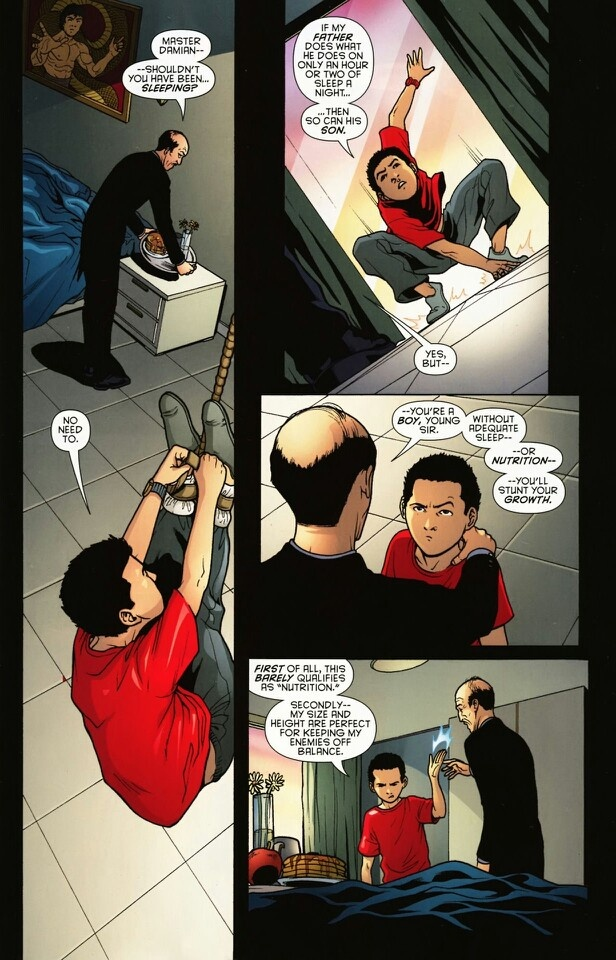 Damian Wayne on short people. Nailed it.