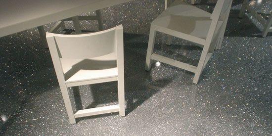 BQ vloer met glitter
