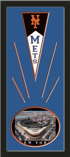 New York Mets Wool Felt Mini Pennant & Citi Field Photo - Framed With Team Color Double Matting In A Quality Black Frame-Awesome & Beautiful-Must For A Championship Team Fan! Most NFL, MLB, NBA, Teams Available-Plz Mention In Gift Message If Need A different Team Art and More, Davenport, IA http://www.amazon.com/dp/B00I03T2TO/ref=cm_sw_r_pi_dp_3LtEub1TG3KD5