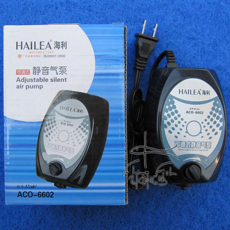 2.5W 4L/min Hailea ACO-6602 Super Silent Aquarium Fish Tank Single Outlet Adjustable Oxygen Air Pump Hydroponics Pump