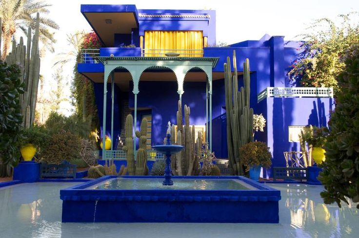 Yves saint laurent marrakech blue pinterest morocco for Jardin ysl marrakech