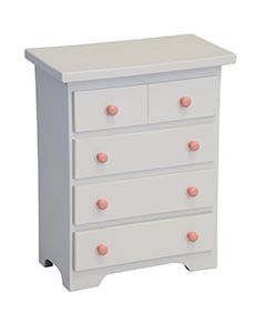 Wooden Chest of Drawers for Doll Clothes Let them organize, fold and tuck their American Girl Doll outfits in these wooden drawers!