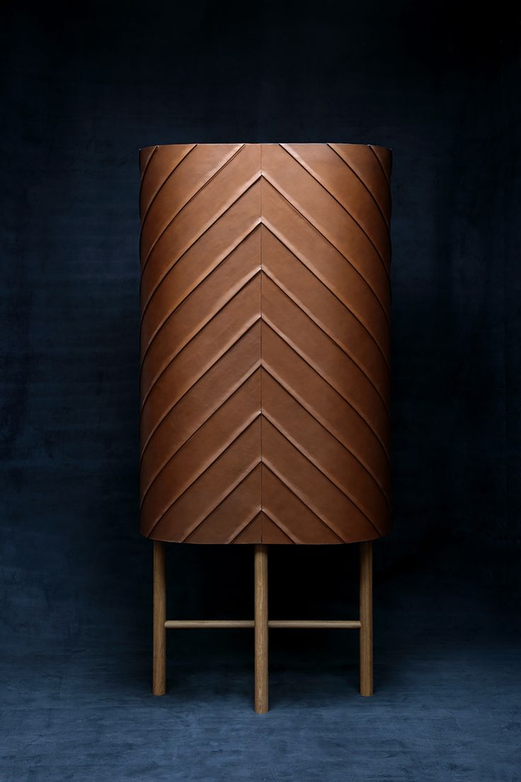 leather wallet cabinet developed by pierre charrié and leatherworker maison fey