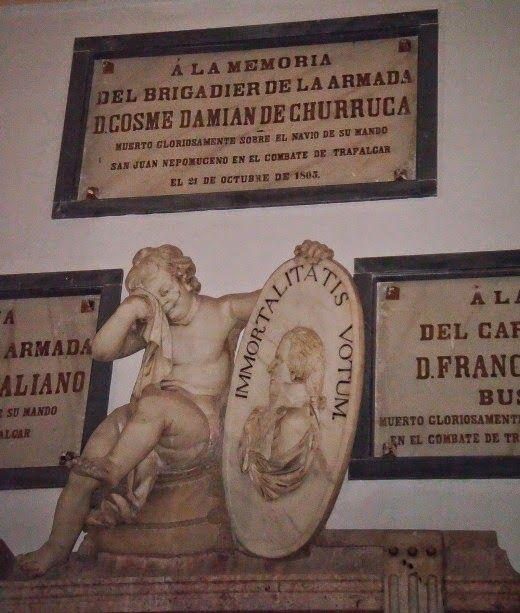 Vascos en el Panteón de Marinos Ilustres de San Fernando