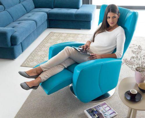 Fotel tv telewizyjny z funkcją relaks sterowanie elektryczne Inari