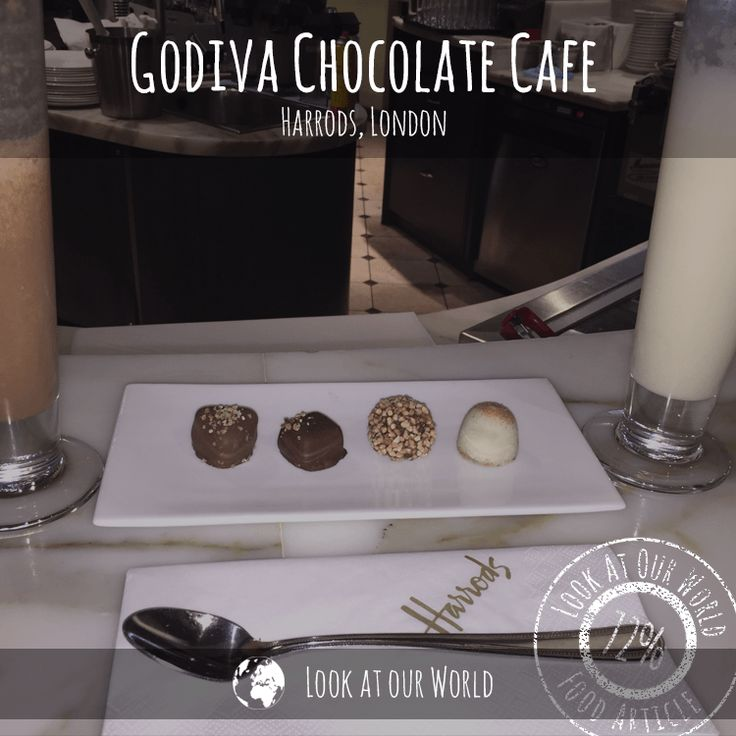Godiva chocolate cafe is tucked away on the 4th Floor of Harrods north side. We were advised to go there by My (Lees') mum and sister who came over to visit from Australia a few years ago.  Got there and wasn't sure why but it was dead, I mean we were the only two people in