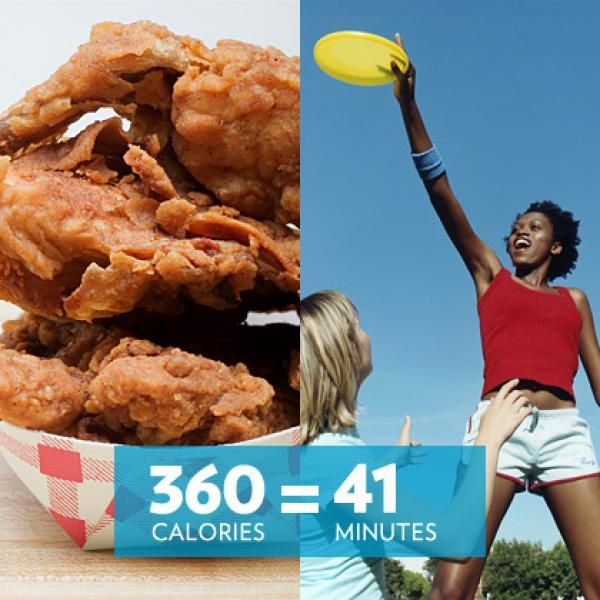 Minutes of Frisbee to Burn Off Calories in Fried Chicken - Shape Magazine Visit us: http://www.youweightloss.ca/ #weightloss #fitness #heatlhy