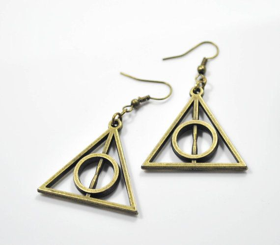Deathly Hallows Earrings, $2.80 | 56 Totally Wearable Harry Potter-Themed Accessories