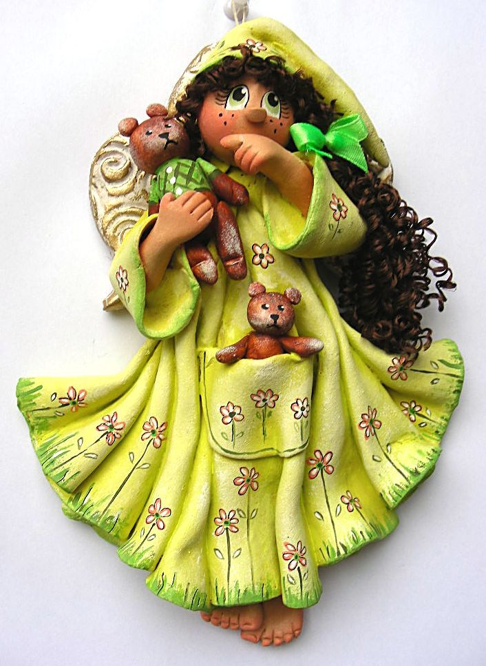 562 best images about ceramic a n g e l s on pinterest for Salt dough crafts figures