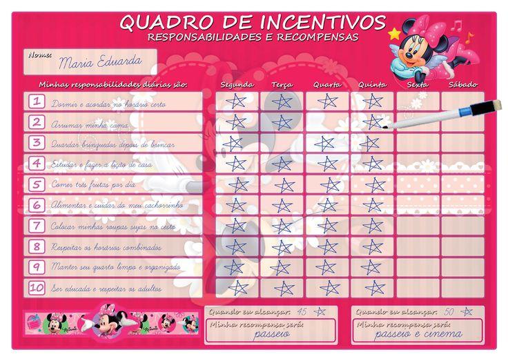Muitas vezes 42 best Quadro do Incentivo Infantil images on Pinterest  AC52