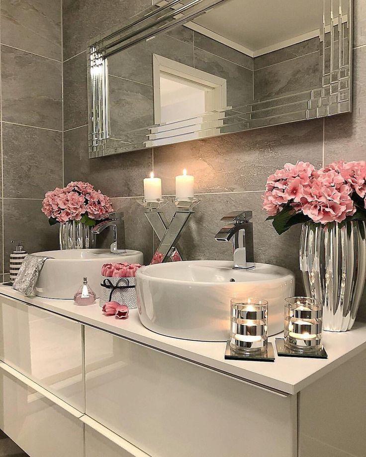 Idées de rénovation de salle de bains à faible coût très belle – #à #aesth…
