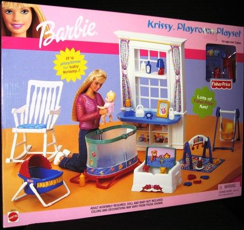 Barbie Krissy Playroom Playset New | eBay