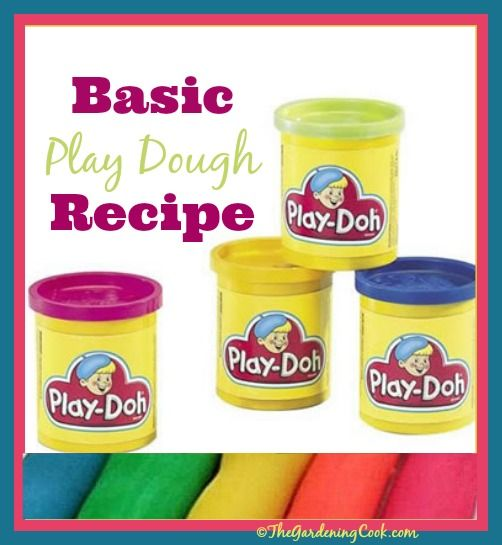 Basic Playdough recipe - why buy when it is so easy to make and smells great?  Get the recipe here http://thegardeningcook.com/homemade-playdough/