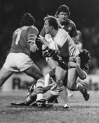 MORE GREAT CANBERRA RAIDERS MOMENTS: Jay Hoffman, hooker, in the Canberra Raiders first official match on 27 February, 1982. The Raiders played South Sydney at Redfern Oval.