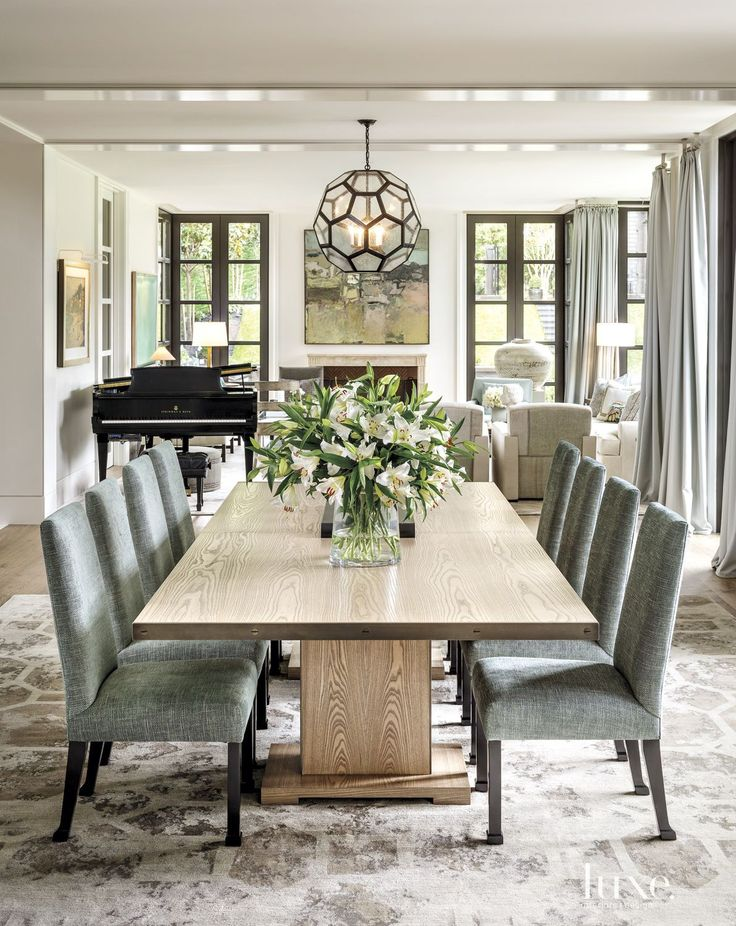 Luxury Dining Room Furniture: A Bright Contemporary Broadmoor Dwelling
