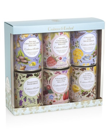 Mini Biscuits Gift Set 6x100g | Crabtree & Evelyn