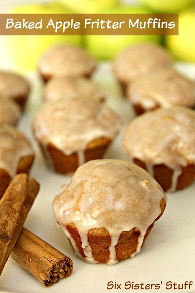 Baked Apple Fritter Muffins Recipe - Six Sisters' Stuff