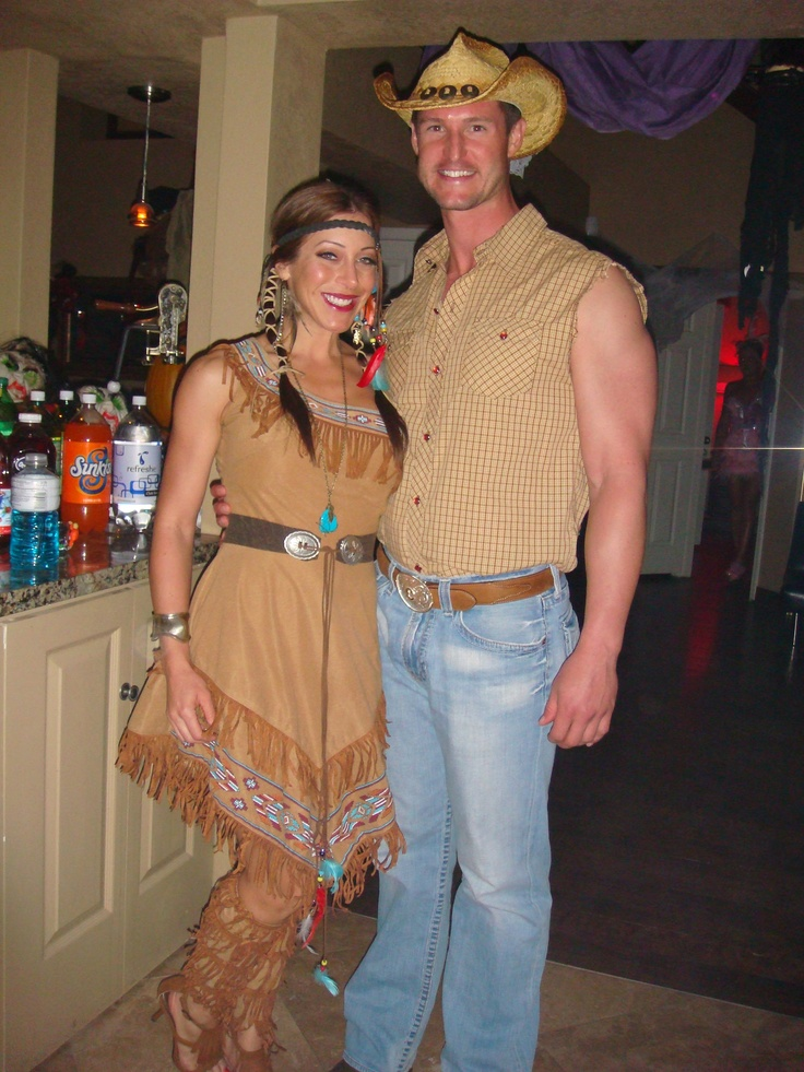 Couples Cowboy and Indian Costume...perfect. already have the indian costume!