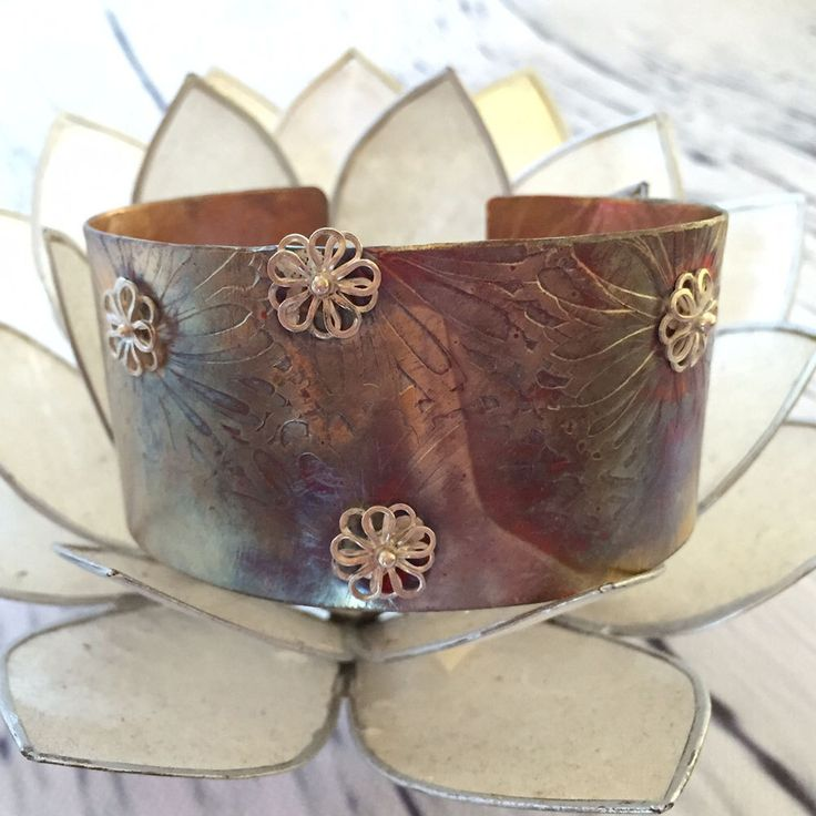 Autumn in Bloom - Copper Cuff by TLHinspired on Etsy https://www.etsy.com/au/listing/277538024/autumn-in-bloom-copper-cuff
