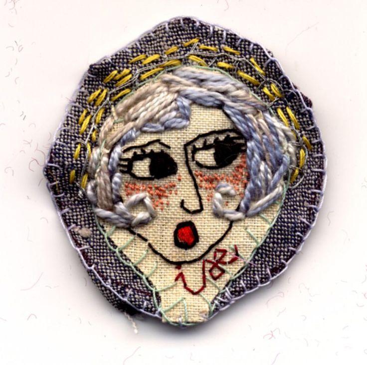 Modern embroidery california : Les petites effigies ise brodeuse d images art