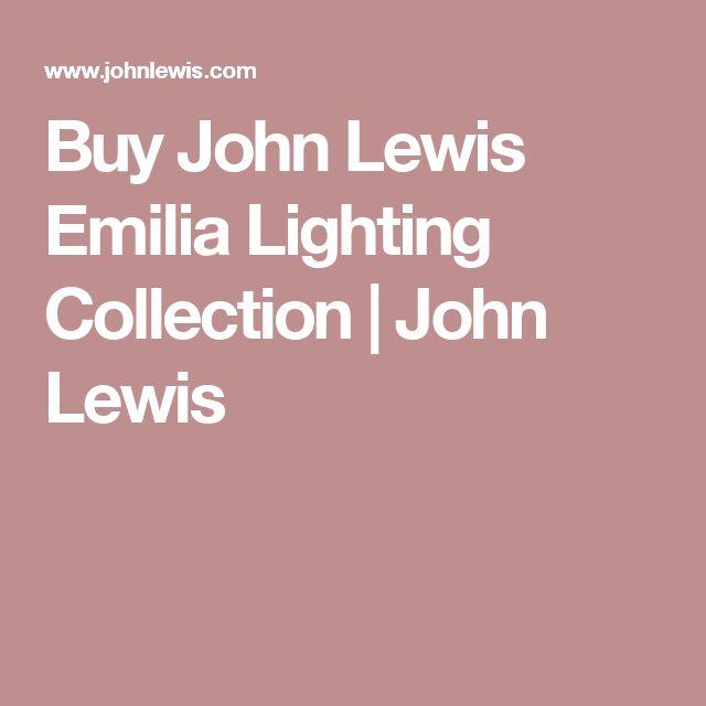 Buy John Lewis Emilia Lighting Collection | John Lewis