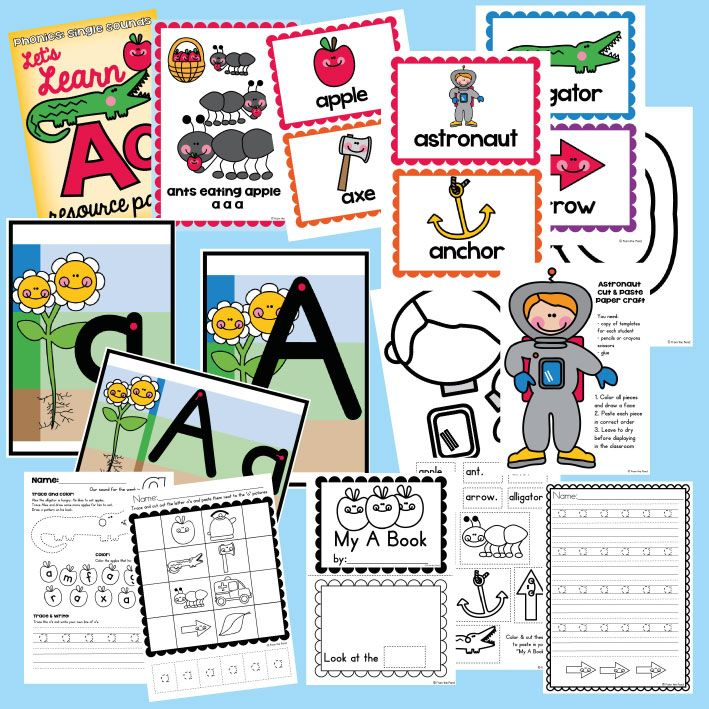 Let's Learn a Resource Packet  Teaching Kindergarten  Printables, Posters, Reader, Craft and more!