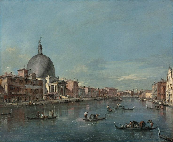 Francesco Guardi (Venice 1712-1793), The Grand Canal, Venice, with San Simeone Piccolo