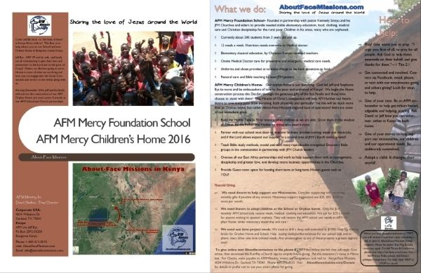 Come and See!  Here is a pdf brochure to fill you in on our Western Kenya Church School ministry and our new start up Children's home led by the Bys family missionaries!