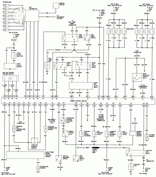 pontiac 2 2 engine diagram schematics 17 1986 pontiac trans am 305 engine wiring harness diagram  1986 pontiac trans am 305 engine wiring