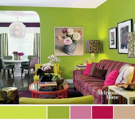 A Green Room With Pink Accents Ken Hayden Photoshot Red Cover