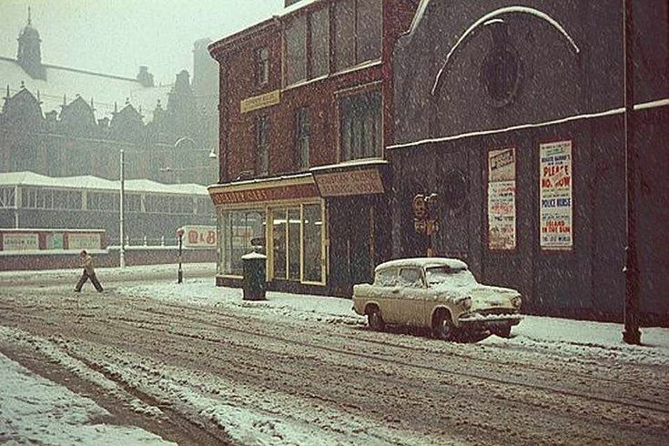 Corner of Mansfield Road and Shakespeare Street, Nottingham, 1960s.