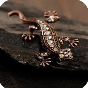 Винтажный шипованных gekkonidae брошь значок булавка элегантный брошь shhipping