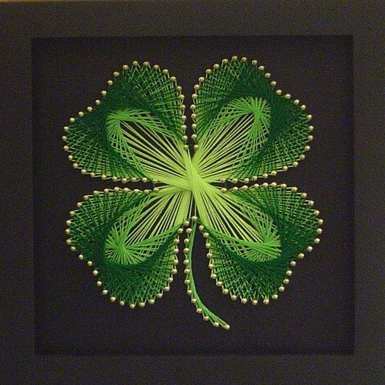 String art shamrock