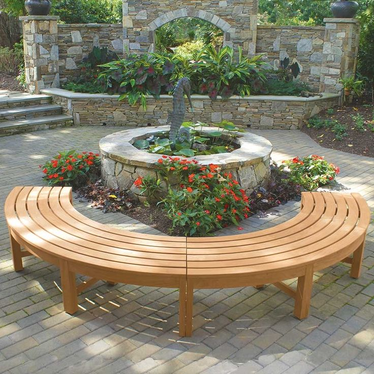 Circa Backless Curved Benches Create A Focal Point In Any Outdoor Setting.