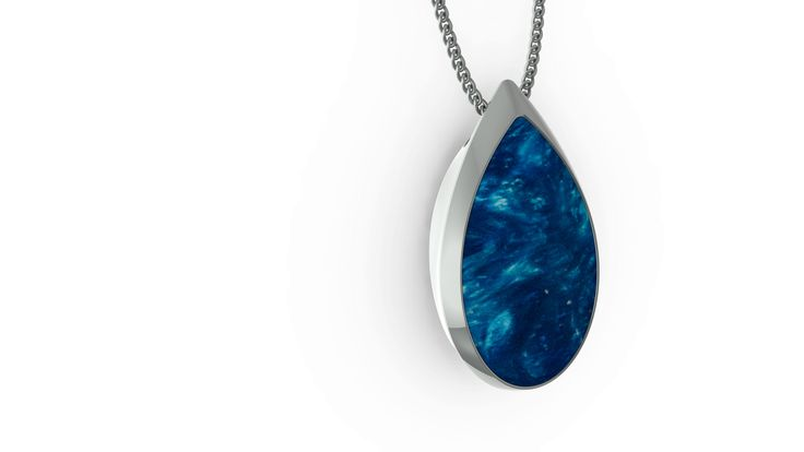 ORA Teardrop in Ocean Blue Jewelry necklace personal safety alert - not a typical medical alert device