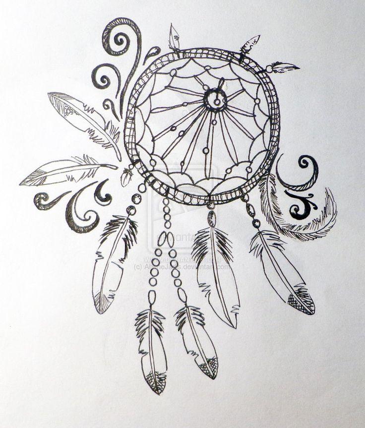 Картинки ловитель снов карандашом